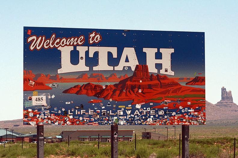 Photo: Utah welcome sign