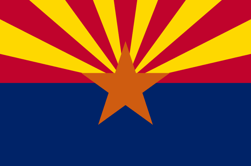 Illustration: Arizona state flag