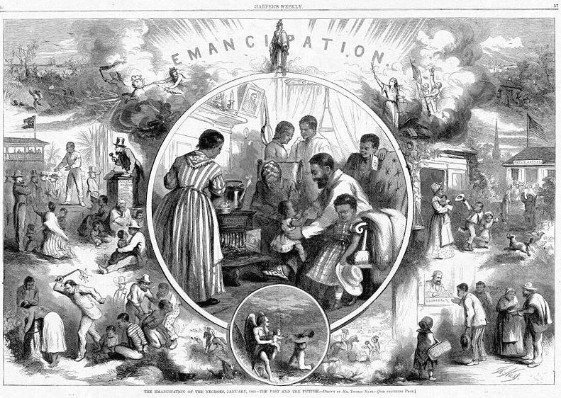 "Illustration: ""Emancipation from Freedmen's Viewpoint,"" from Harper's Weekly, 1865"