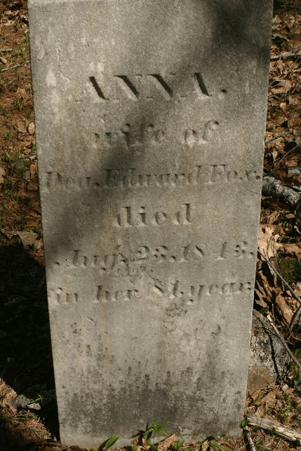 Photo: gravestone of Anna Creighton Fox, Sanborn Cemetery, Meredith, Belknap County, New Hampshire