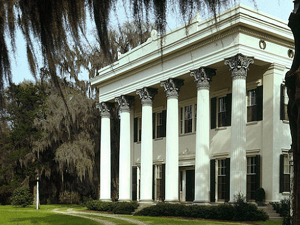 Photo: Millford Plantation (1839–41), an example of Greek Revival architecture, Pinewood, Sumter County, South Carolina. Credit: Jack Boucher; Library of Congress, Prints and Photographs Division.