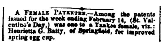 An article about Henrietta Batty, Boston Traveler newspaper article 20 February 1860