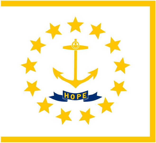 Illustration: Rhode Island state flag