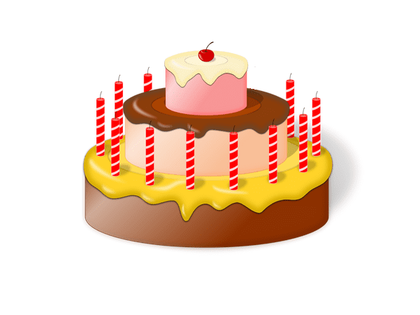 Illustration: a birthday cake