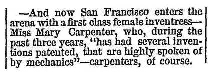 An article about Mary Carpenter, People's Gazette newspaper article 18 January 1873