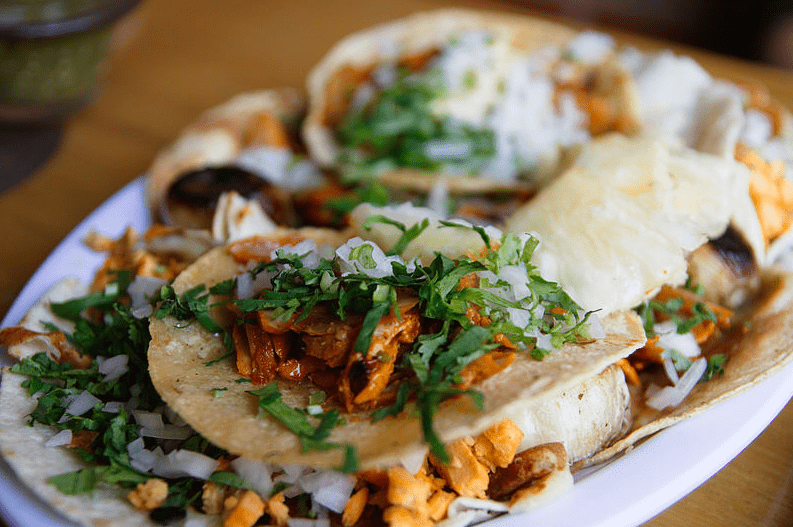 Photo: tacos al pastor made with adobada meat