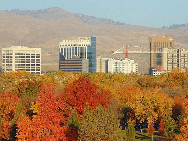 Photo: autumn in Boise, Idaho. Credit: Lordchadwick79; Wikimedia Commons.