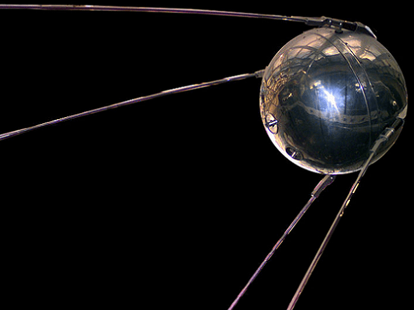Photo: a replica of Sputnik 1, the first artificial satellite in the world to be put into outer space; the replica is stored in the National Air and Space Museum. Credit: NASA; Wikimedia Commons.