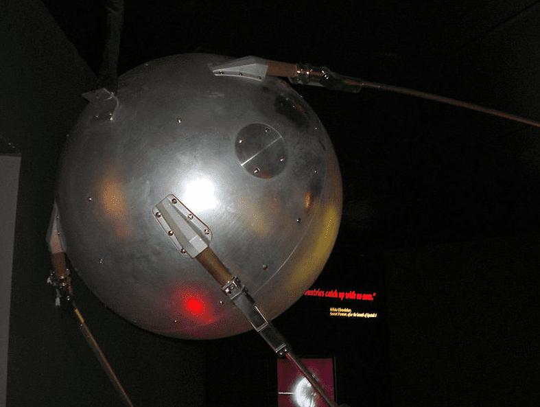 Photo: Sputnik replica at the Cosmosphere in Hutchinson, Kansas