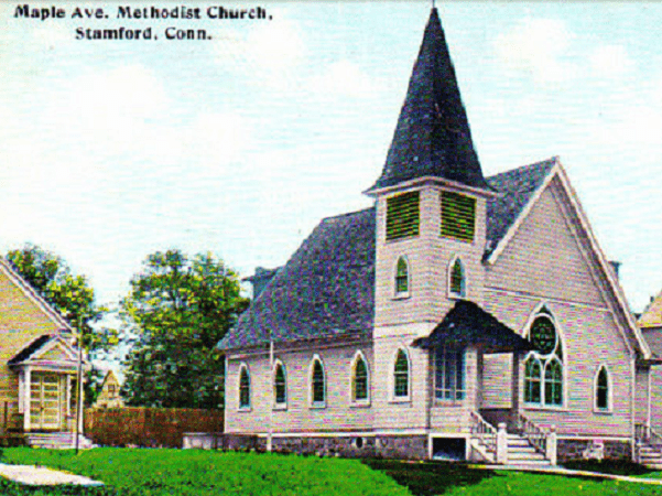 Photo: Maple Avenue Methodist Church, Stamford, Connecticut. Source: Thomas Jay Kemp.