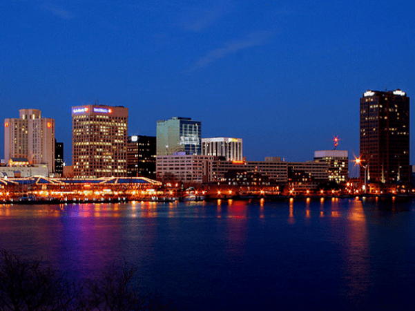 Photo: Norfolk, Virginia. Credit: Joey Sheely; Wikimedia Commons.