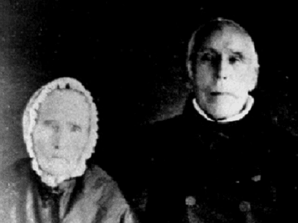 Photo: detail of a picture of William and Maria Garcelon