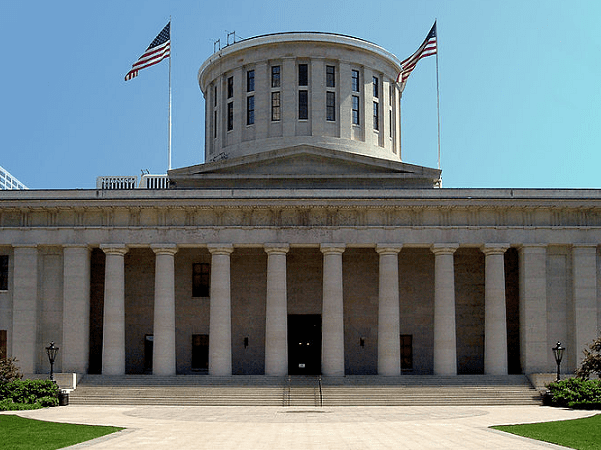 Photo: the Ohio State Capitol, Columbus, Ohio