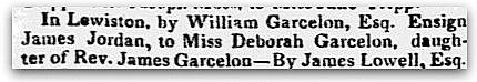 An article about William Garcelon, Portland Advertiser newspaper article 16 June 1824
