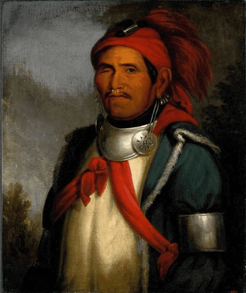 Painting: portrait of Tenskwatawa, by Charles Bird King, c. 1820