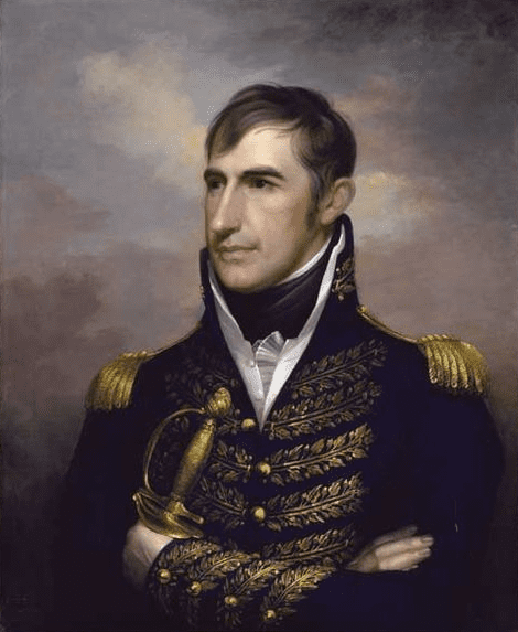 Painting: portrait of William Henry Harrison, by Rembrandt Peale, c. 1813