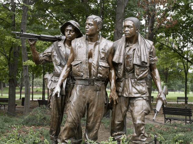 "Photo: ""The Three Soldiers,"" part of the Vietnam Veterans Memorial, National Mall, Washington, D.C."