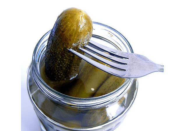 Photo: German pickles called Spreewald gherkins. Credit: Kungfuman; Wikimedia Commons.