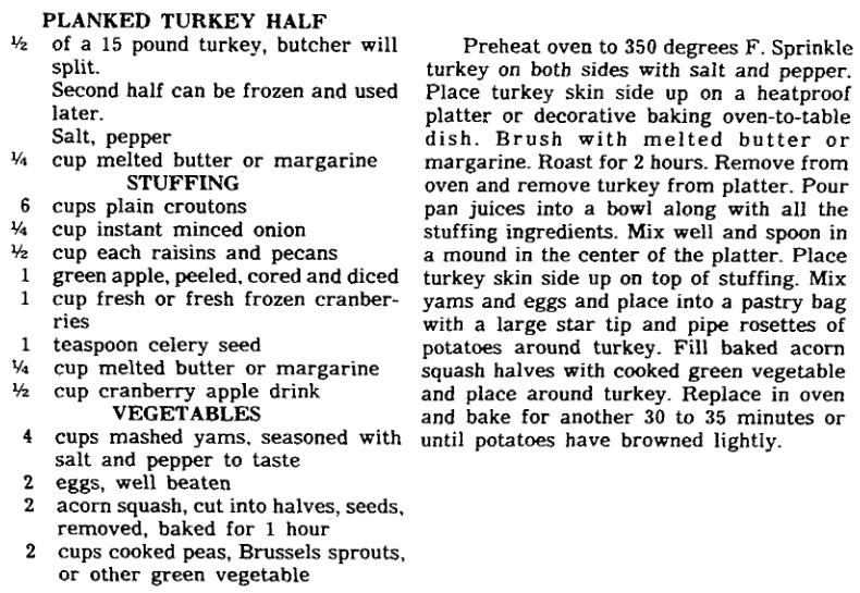 A recipe for Turkey, State newspaper article 18 November 1981