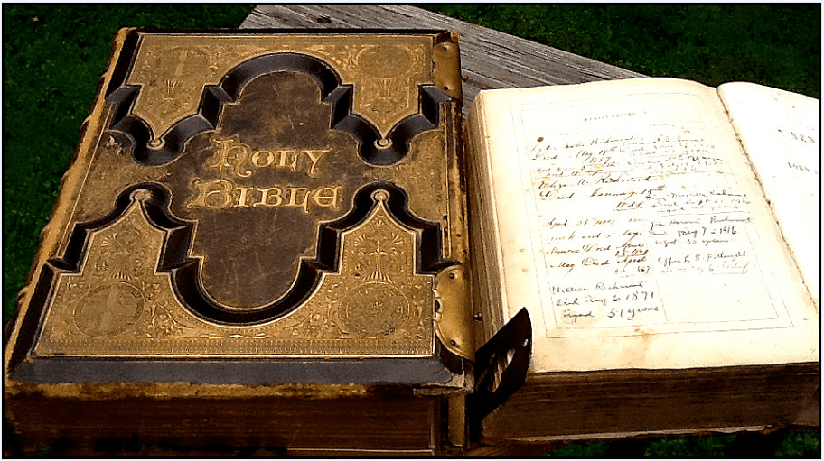 Photo: an old family Bible