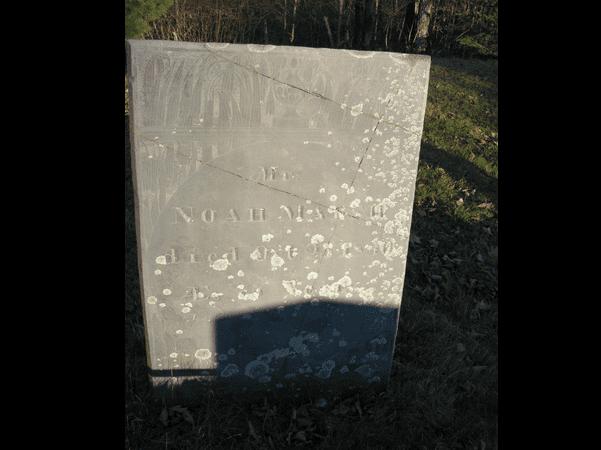 Photo: Gravestone of Noah Marsh, West Ridge Cemetery, Cornville, Somerset County, Maine. Source: Find a Grave.