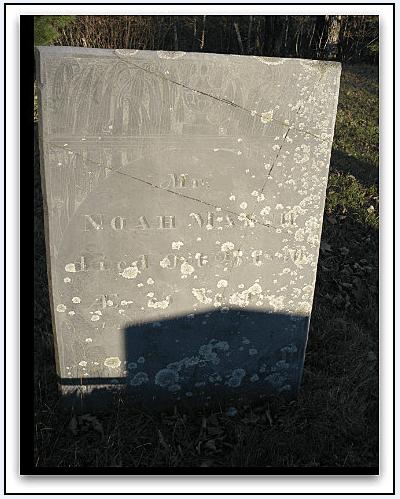 Photo: gravestone for Noah Marsh