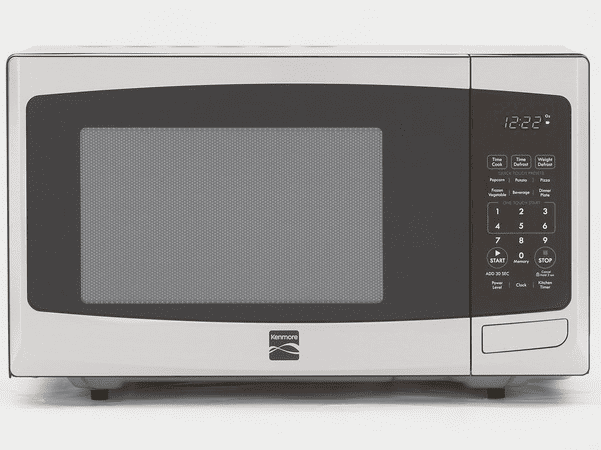 Photo: a microwave oven by Kenmore. Credit: Consumer Reports; Wikimedia Commons.