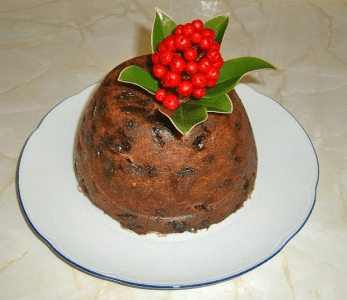 Photo: Christmas Plum Pudding, decorated with skimmia rather than holly