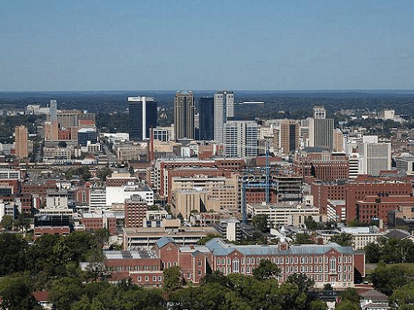 Photo: Birmingham, Alabama. Credit: Eric in SF; Wikimedia Commons.