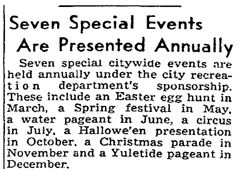 An article about parades and special events, Sacramento Bee newspaper article 29 August 1940