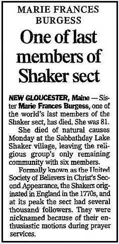 An obituary for Marie Burgess, State newspaper article 20 June 2001