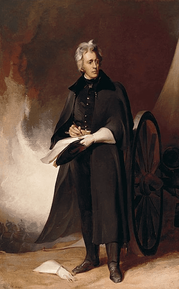 Illustration: Andrew Jackson at the Battle of New Orleans, painted by Thomas Sully