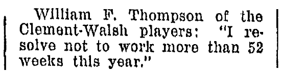 An article about a New Year's resolution, Omaha World-Herald newspaper article 1 January 1928