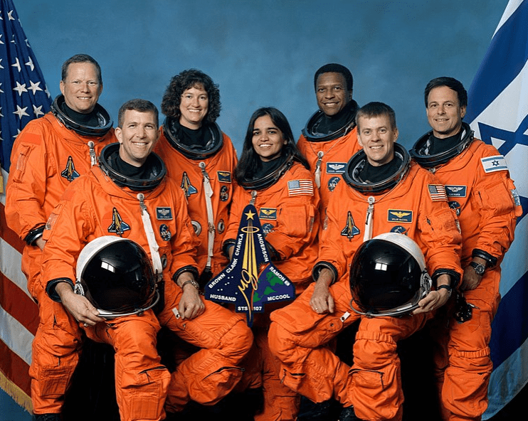 Photo: This is the official crew photograph from mission STS-107 on the Space Shuttle Columbia