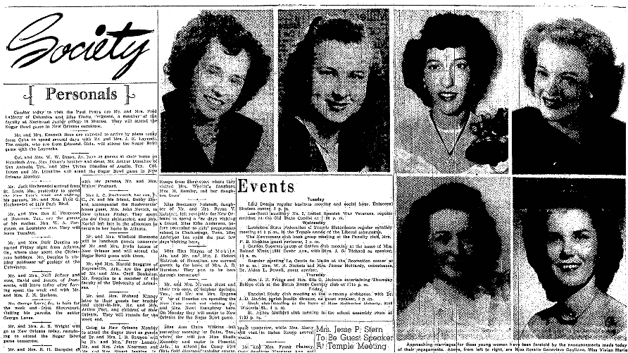 Engagement notices, Advocate newspaper article 1 January 1950