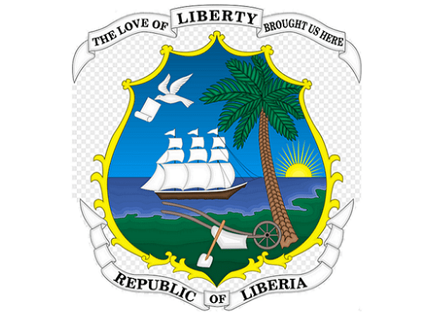 Illustration: coat of arms for Liberia, reflecting the nation's origins. Credit: FXXX; Wikimedia Commons.