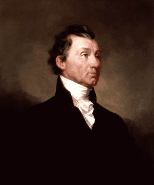 Illustration: White House portrait of President James Monroe, by Samuel Morse, 1819