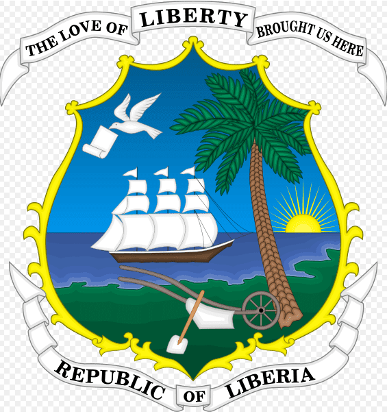 Illustration: coat of arms for Liberia, reflecting the nation's origins