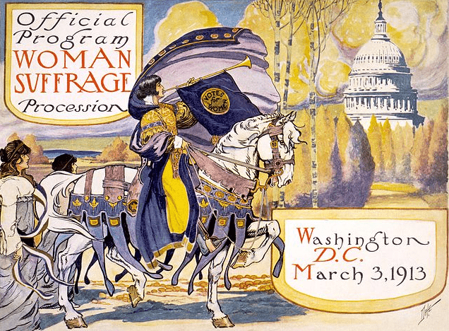 Illustration: official program for the Woman Suffrage Procession, Washington, D.C., on 3 March 1913