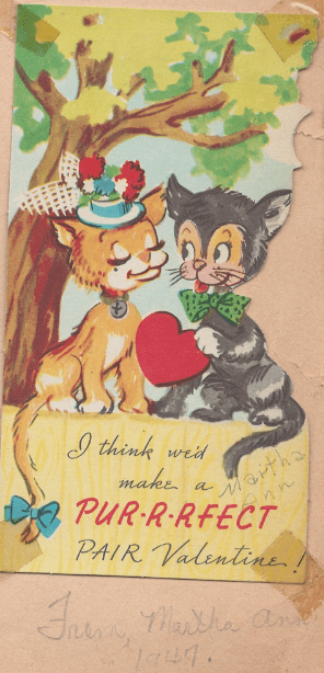 Photo: Valentine's Day card from 1947