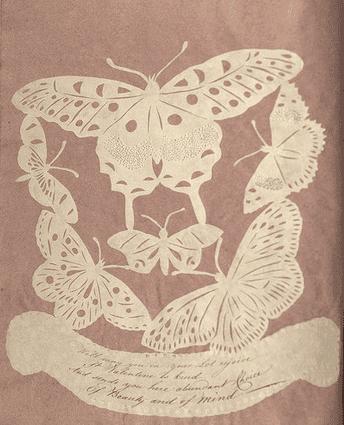 Photo: handmade Valentine Day's Card, c. 1820