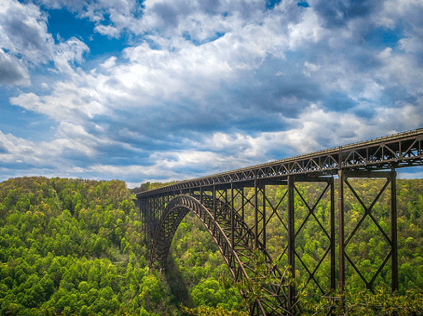 Photo: the New River Gorge Bridge, near Fayetteville, West Virginia. Credit: Shawn Ullerup; Wikimedia Commons.