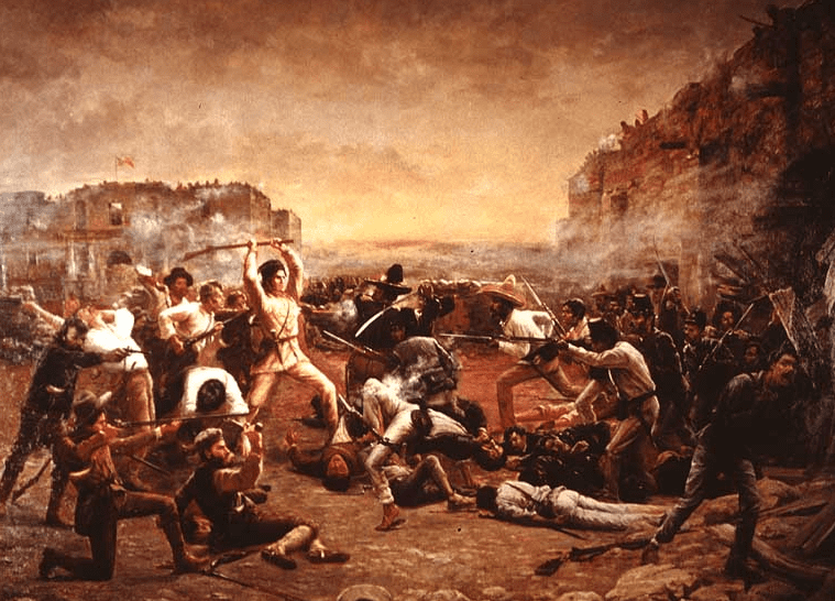 "Illustration: ""The Fall of the Alamo; or, Crockett's Last Stand,"" by Robert Jenkins Onderdonk"