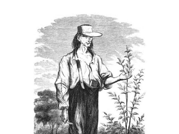 Illustration: John Chapman, aka Johnny Appleseed. Credit: H. S. Knapp; Wikimedia Commons.