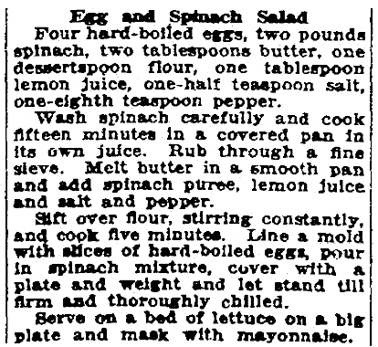 A salad recipe, Patriot (Harrisburg, Pennsylvania), 17 March 1922
