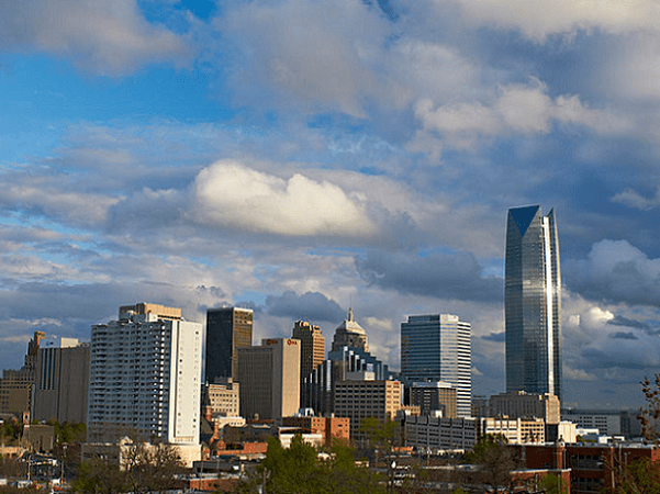 Photo: Oklahoma City, capital of Oklahoma. Credit: Greater Oklahoma City Chamber and Oklahoma City Convention and Visitors Bureau; Wikimedia Commons.