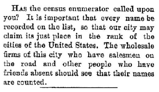 An article about the 1890 U.S. Federal Census, Plain Dealer newspaper article 18 June 1890