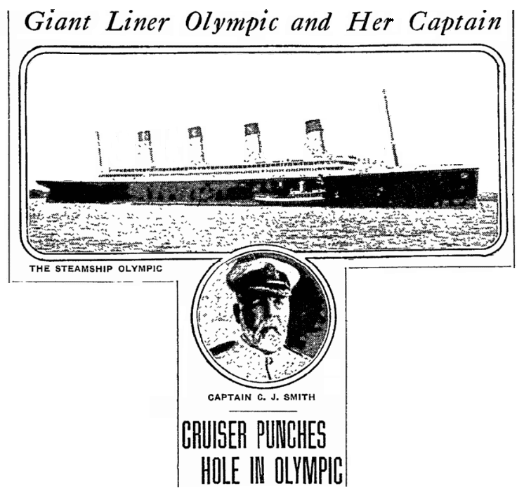 An article about the shipwreck of the Olympic, Philadelphia Inquirer newspaper article 21 September 1911