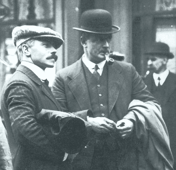 Photo: Titanic officers Herbert Pitman and Charles Lightoller (on the right) after the sinking