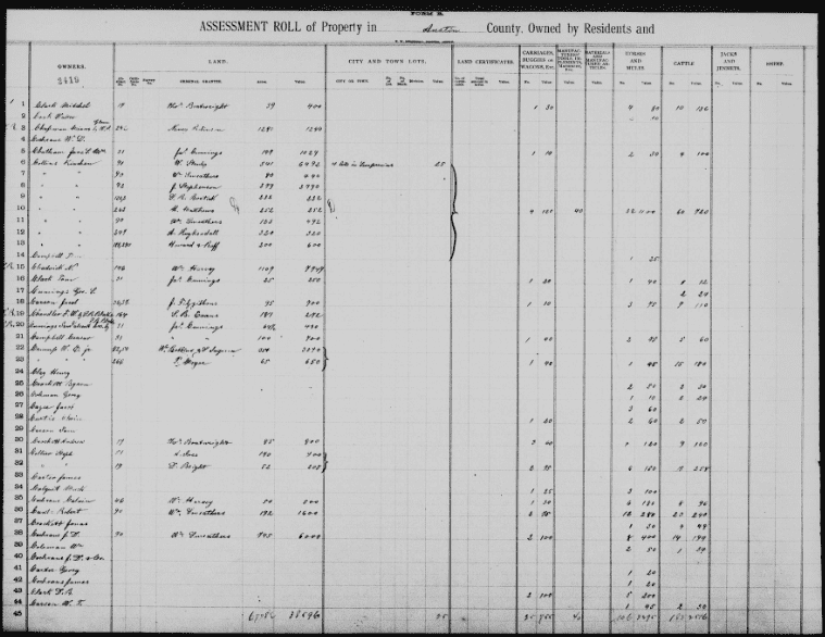 """Photo: """"Texas, County Tax Rolls, 1837-1910,"""" database with images"""